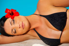 Bikini in action Royalty Free Stock Image