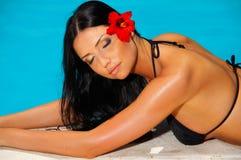 Bikini in action Stock Image