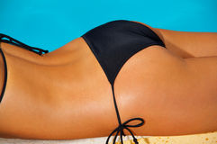 Bikini in action Royalty Free Stock Images