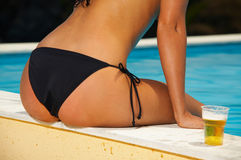 Bikini in action Royalty Free Stock Photo