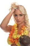bikini aloha κορίτσι Στοκ φωτογραφία με δικαίωμα ελεύθερης χρήσης