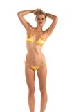 Bikini amarillo Imagen de archivo libre de regalías