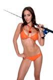 Bikini-Angler stockfoto
