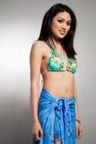 Bikini asian woman stock image