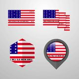 Bikini Atoll flag design set vector stock illustration