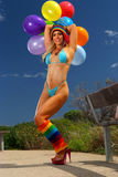 Bikini Balloon girl Royalty Free Stock Images