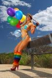 Bikini Balloon girl Stock Photos