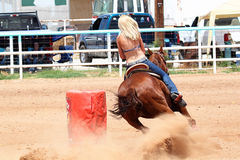 Bikini Barrel Racing Power Turn Stock Photo