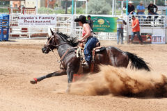 Bikini Barrel Racing Power Turn Royalty Free Stock Photo