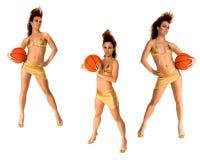 Bikini Basketball Trio Royalty Free Stock Photography