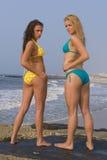 Bikini Beach. Beautiful girls on the beach all in bikinis Royalty Free Stock Image
