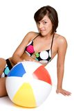 Bikini Beach Ball Girl Royalty Free Stock Photography