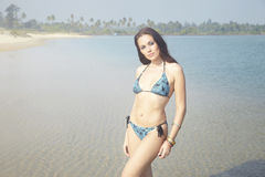 Bikini at the beach Royalty Free Stock Photography