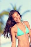 Bikini beach woman happy smiling Royalty Free Stock Image