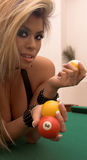Bikini Billiards Stock Photo