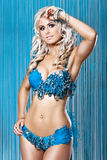 bikini błękitny diamnod seksowni kobiety potomstwa Fotografia Stock