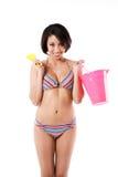 bikini black sexy woman στοκ εικόνα με δικαίωμα ελεύθερης χρήσης