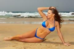 Bikini bleu Photographie stock