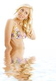 Bikini blond #3 in water Stock Photos