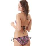 bikini brunet πρότυπος προκλητικός Στοκ φωτογραφία με δικαίωμα ελεύθερης χρήσης