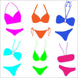 Bikini Collection Royalty Free Stock Photography