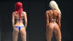 Bikini competition stock video