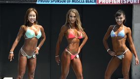 Bikini competition stock footage