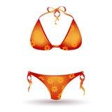 Bikini d'isolement sur le blanc illustration stock