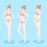 Bikini d'usage de femme illustration libre de droits