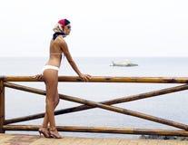 Bikini dans l'action Images stock