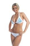 Bikini della pietra blu fotografia stock