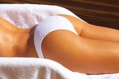 Bikini in der Tätigkeit Stockbild