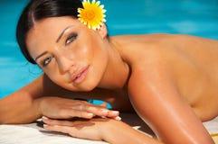Bikini in der Tätigkeit Stockfoto