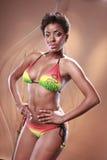 Bikini des Caraïbes d'arc-en-ciel photo stock