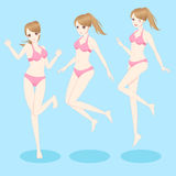 Bikini di usura di donna royalty illustrazione gratis