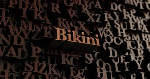 Bikini - Drewniani 3D odpłacający się listy/wiadomość royalty ilustracja