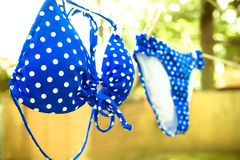 Bikini Drying Royalty Free Stock Photos
