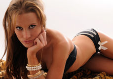 bikini dziewczyny dywanik seksowny Obraz Stock