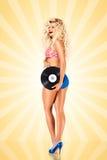 Bikini et vinyle images libres de droits