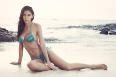 Bikini fashion on beach Royalty Free Stock Images