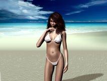Bikini-fille illustration de vecteur