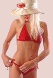 bikini fitting Στοκ φωτογραφίες με δικαίωμα ελεύθερης χρήσης