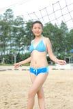 Bikini girl. A pretty young chinese girls, wearing a bikini Stock Photos