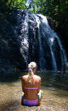 Bikini Girl. Near waterfall tropical Stock Image