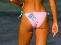 Bikini Girl. Tropical summer picture Royalty Free Stock Photos