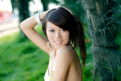 Bikini girl. A pretty young girls, wearing a bikini Stock Photos