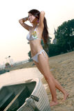 Bikini girl. A pretty young girls, wearing a bikini Royalty Free Stock Photos