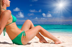Bikini girl Royalty Free Stock Photo