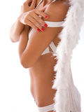 Bikini girl with angel wings Royalty Free Stock Photography