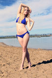Bikini Girl at the Beach Royalty Free Stock Images